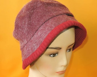Guess Bucket Hat Vintage Solid Wool Polyester Red Designer Winter Fishing Cap Head Gear