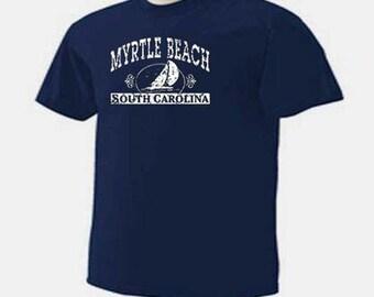 Sailboat Myrtle Beach South Carolina Sea Ocean Vacation T-Shirt