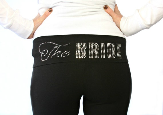 The Bride Mega Bling Yoga Pants