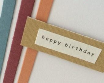 Happy birthday vertical stripes