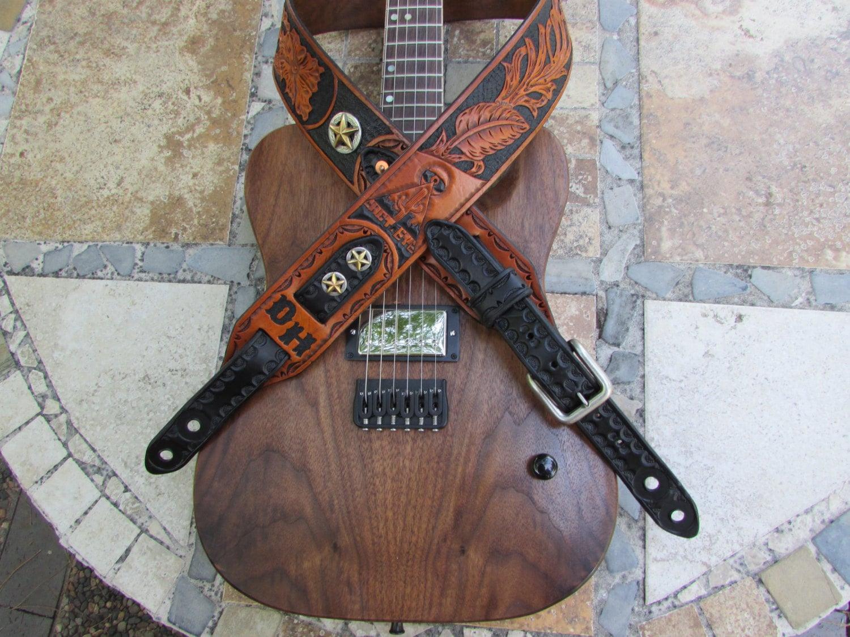 Wide Leather Guitar Strap : 2 5 wide hand carved leather guitar strap ~ Vivirlamusica.com Haus und Dekorationen