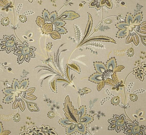 Floral Shower Curtain Waverly Gray Tan 72 X 84 108 Custom