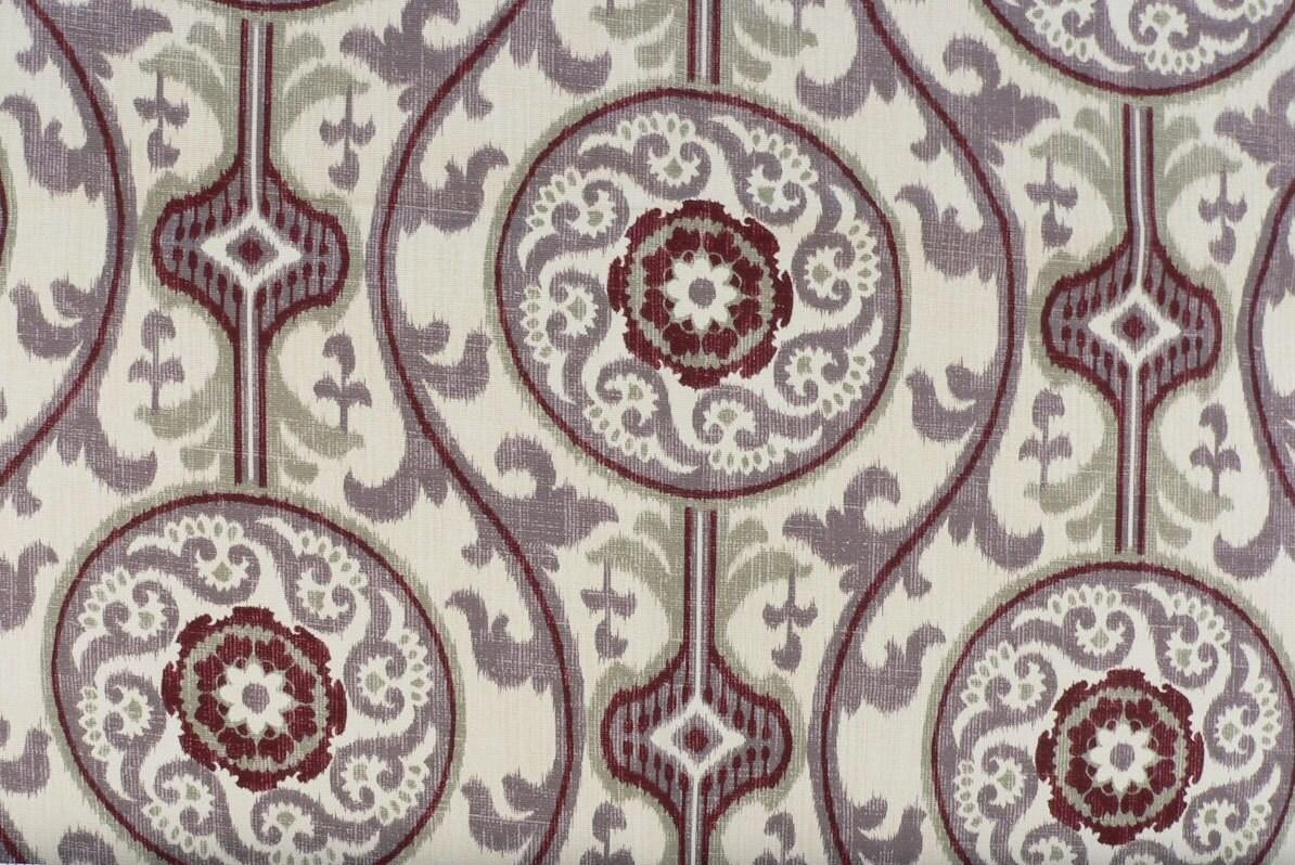 Purple ikat shower curtain - Custom Fabric Shower Curtain Suzanni Ikat Plum Long Shower