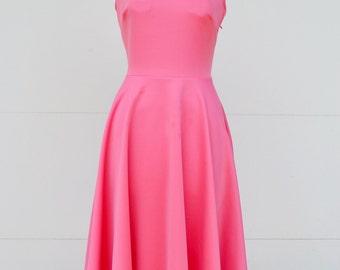 Pink circle dress