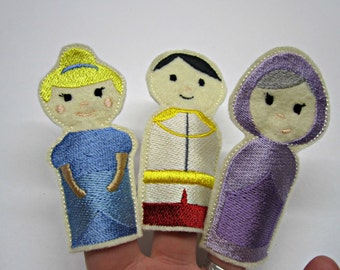 Finger Puppets / Toy / Game / Felt / Embroidery / Cinderella