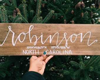 Wooden Family Signs// Established Family Wooden Signs// Newlyweds Family Wooden Sign// Wooden Home Decor// First-time Homebuyers Family Sign