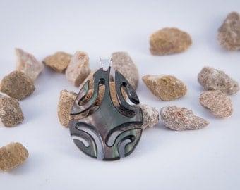 Drop Pearl and Silver Pendant (#NG04)