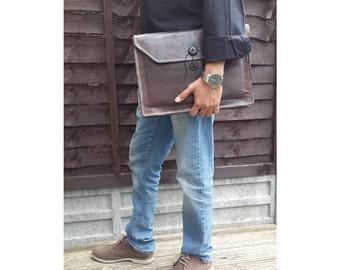 Handmade Genuine Leather  Macbook Pro Laptop Sleeve Ipad Sleeve
