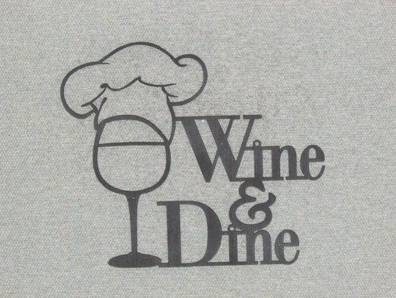 Wine and dine wall art decor for Wine and dine wall art