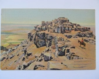 "Vintage Postcard-""The Mesa and Old Walpi"""