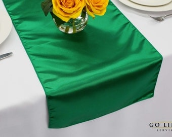 Emerald Green Satin Runner for Weddings | Table Runner