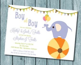 Baby Elephant Shower Invitation 10 pack