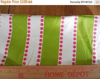 On sale Destash- Home Decor Fabric Remnant Premier Prints Lulu Stripe Chartreuse and Candy