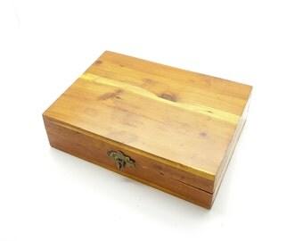 Union Made Wood Trinket Box / Keepsakes Box