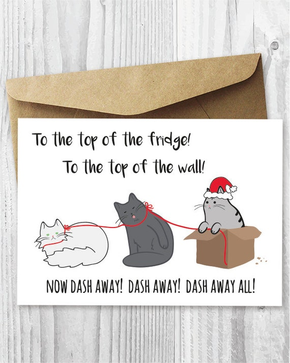 Printable Christmas Cards Funny Cats Christmas Cards