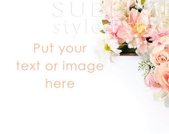 Styled Stock Photography / Spring Background / Stock Image / Flowers / Floral / Pastel Flowers / Wedding Background / StockStyle-661