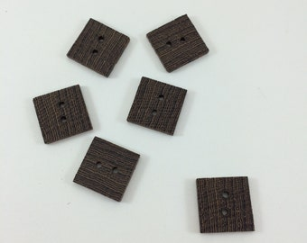 Square Buttons - Wenge