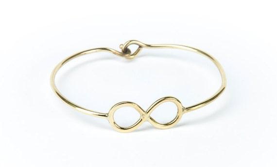 Infinity Bangle  Infinity Bracelet Handmade Brass Eternity Jewelry  Gift Boxed + Giftbag + Free UK Delivery