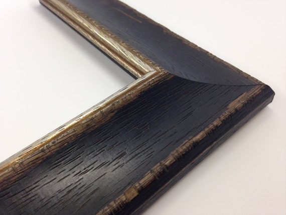 Black Rustic Distressed Wood Picture Frame All Wood W