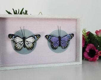 Shrine pink butterflies