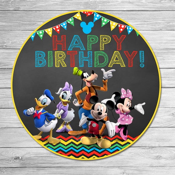 Mickey Mouse Clubhouse Happy Birthday Centerpiece 7 Inch Round