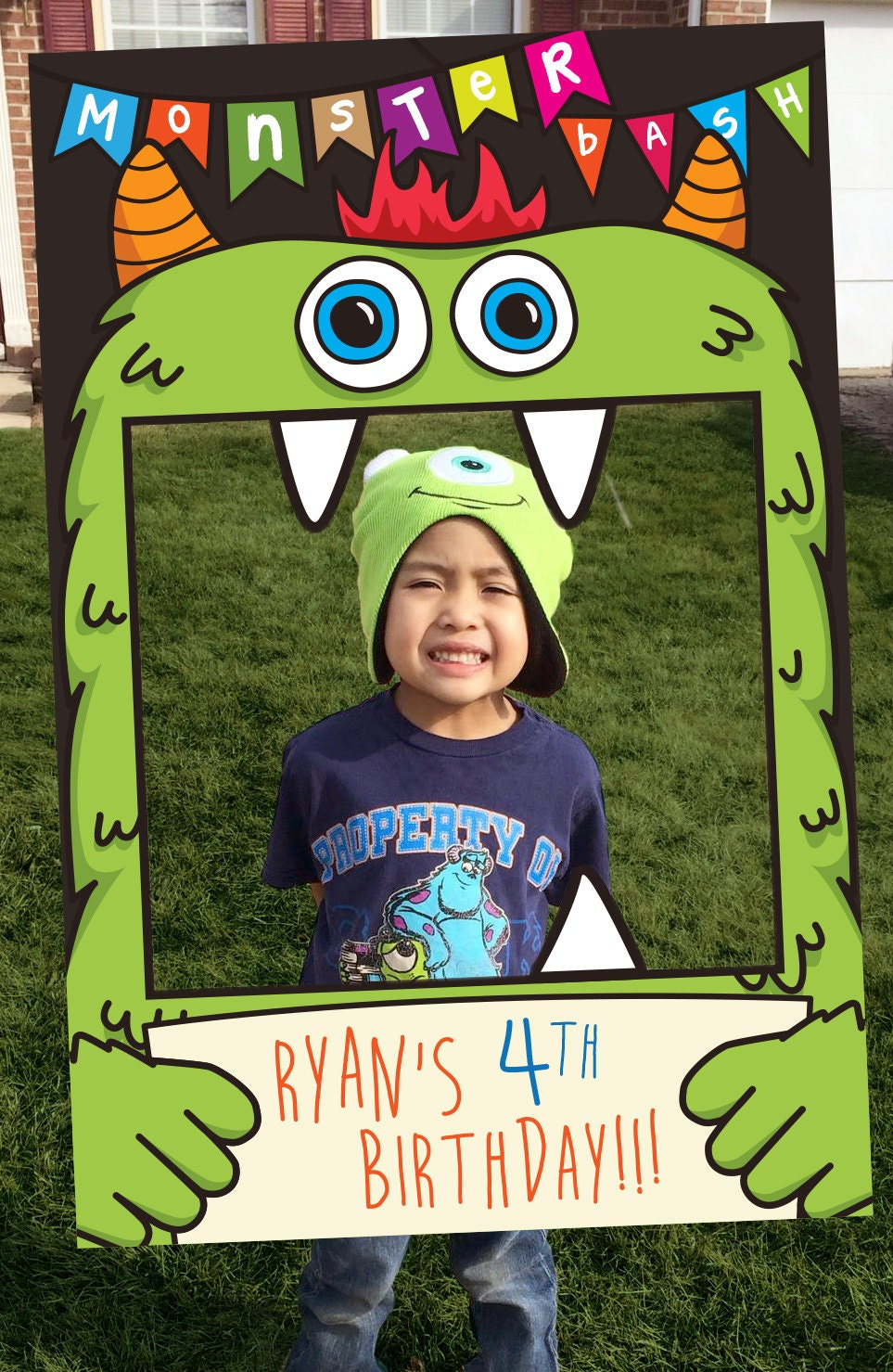 Monster Bash Theme Photo Booth Party Prop Frame Digital File