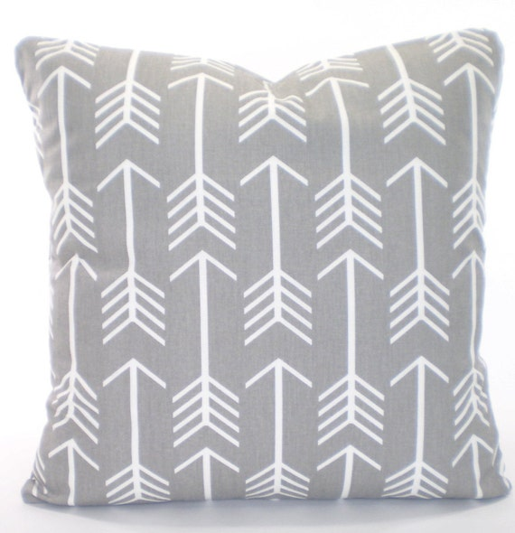 Throw Pillow Covers White : Gray White Pillow Cover Decorative Throw by PillowCushionCovers