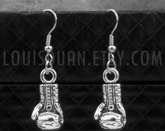 Silver Boxing Glove Earrings -Boxer Earrings -Gift For Her -Bridesmaid Jewelry -With Gift Box