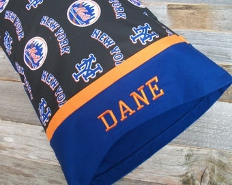 Personalized Mets Pillow - NY Mets TRAVEL Size Pillow