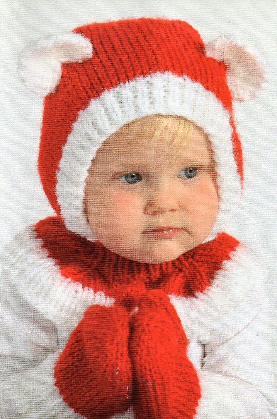 Santa claus bear hat and mittens knitting pattern baby child zoom bankloansurffo Choice Image