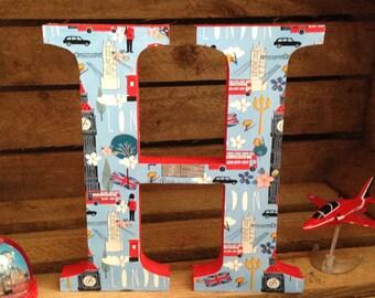 Freestanding Decorative Wooden London Theme Letters - 20cm