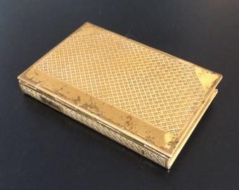 Vintage Coty Compact Mirror Book, Memo, Notebook