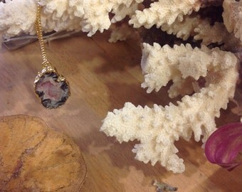 Mineral stone necklace