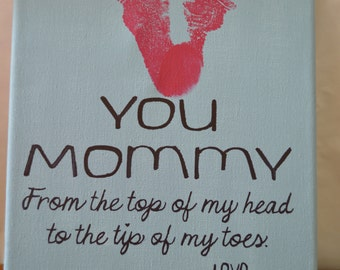 Top of My Head to the Tip of My Toes - Child Footprint Canvas Kit