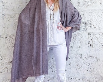 SUMMER SALE 20% Brown Pashmina Shawl Scarf, Wool Pashmina Cashmere Shawl Wrap, Indian Shawl For Men And Women By Hanamer