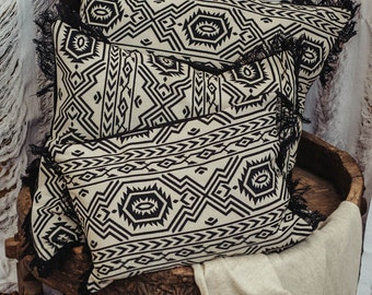 Black And White Decorative Pillow Set Of 3, Throw Pillow Cover Set, Aztec,Tribal,Boho,Bohemian, Sofa Cushion Covers