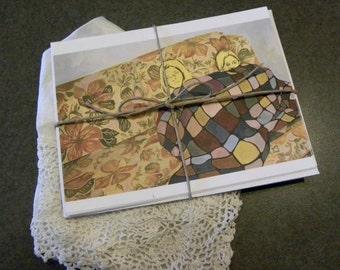 Sisters - 4 postcard stationery set