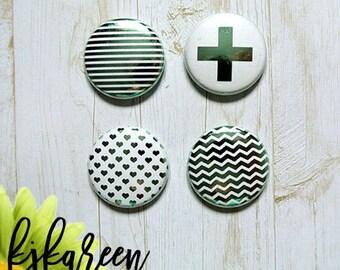 "Badge 1 ""- Texture metal Mint"