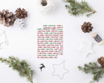 Merry Christmas Gift Tag Set