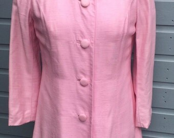 Women's 1960's Pink dress and coat. (UK 10)