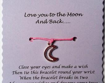 Daughter bracelet, Gift Daughter, Wish Bracelet, Daughter gift, Charm bracelet, Friendship Bracelet, Stocking Filler, Christmas Gift