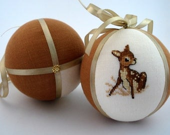Baby's first christmas ornament  Baby deer Christmas tree ball Personalized christmas baby gift  Christmas bauble