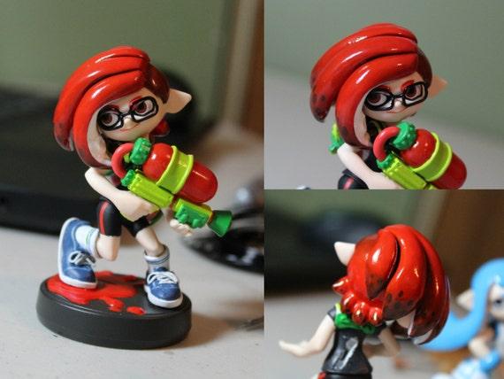 Custom Inkling Boy Or Girl Amiibo With Hairstyle