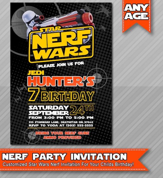 Nerf War Birthday Party Invitations futurecliminfo