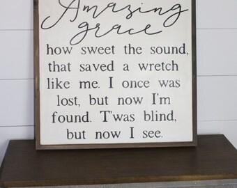 Amazing Grace Sign