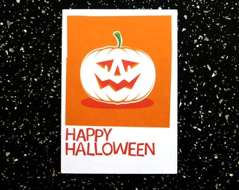 Halloween Card - Pumpkin illustration - Happy Halloween
