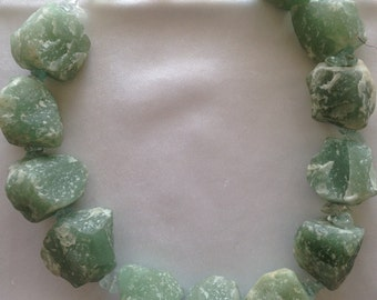 Vintage Green Calcite Stone Necklace