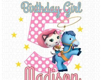 Callie's Wild Wild West Birthday Name Age Iron On - Digital - You Print