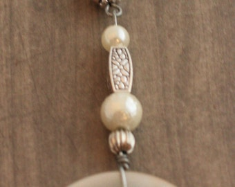 Pearly button key chain