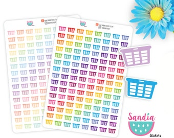 Laundry Basquet Stickers, Planner Stickers, Erin Condren, Plum Paper, Limelife